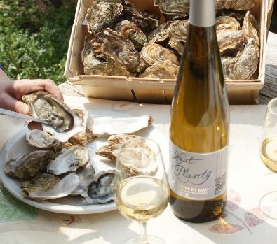Bon de commande: saumon huître et vin