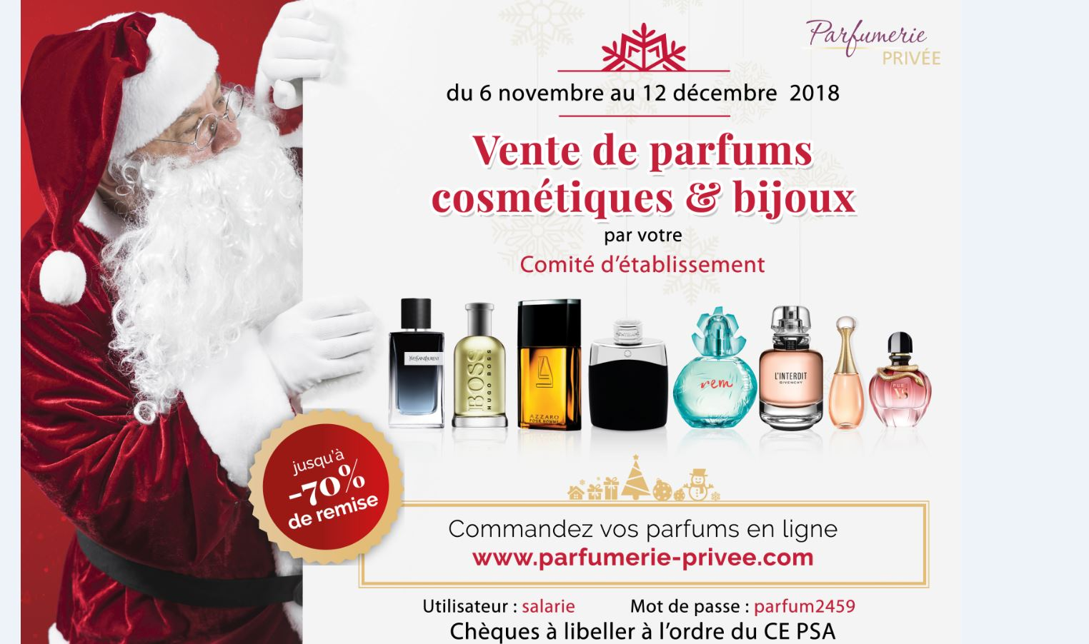 Vente de parfums