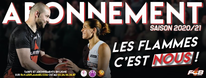 Abonnement 2020/2021 Flammes Carolo Basket à déposer au CSE avant le 8 juillet
