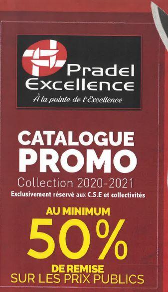 Commande Pradel excellence au minimum 50% de remise sur les prix publics (cuisson,coutellerie,art de la table,articles ménagers,pâtisserie,la cave)