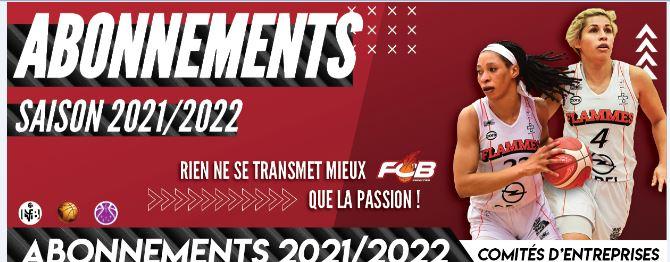 Abonnement 2021/2022 Flammes Carolo Basket à déposer au CSE avant le 16 juillet